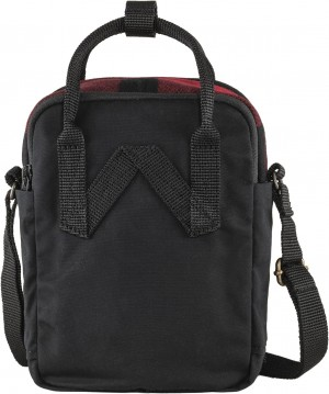 Torba Kanken Re-Wool Sling Fjallraven - 320-550 Red/Black