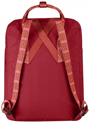 Plecak Kanken Fjallraven - 325/903 - Deep Red/Folk Pattern