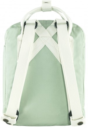 Plecak Kanken Mini Fjallraven - 600-106 - Mint Green/Cool White