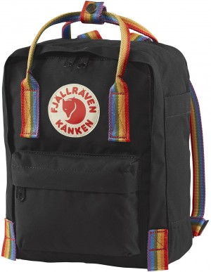 Plecak Kanken Rainbow Mini - 550-907 - Black-Rainbow Pattern