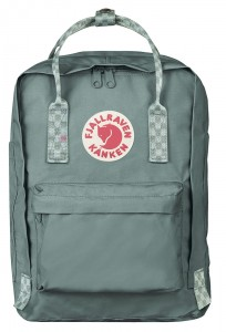 "Plecak Kanken Laptop 13"" Fjallraven - 664-904 - Frost Green-Chess Pattern"