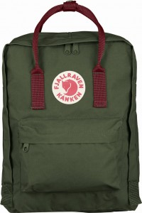 Plecak Kanken Fjallraven - 660/326 Forest Green/Ox Red