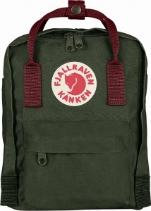 Plecak Kanken Mini Fjallraven - 660-326 Forest Green/Ox Red