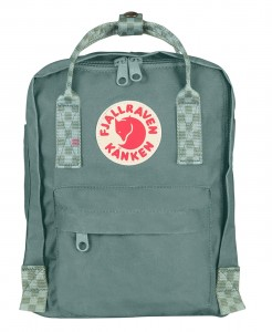 Plecak Kanken Mini Fjallraven - 664-904 Frost Green/Chess Pattern