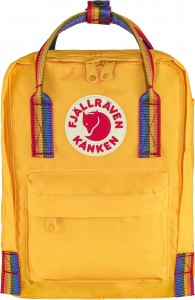 Plecak Kanken Rainbow Mini - 141-907 - Warm Yellow-Rainbow Pattern