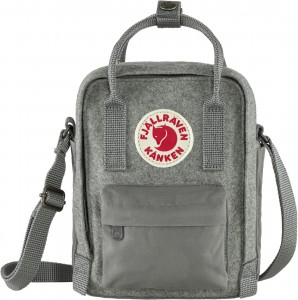 Torba Kanken Re-Wool Sling Fjallraven - 027 - Granite Grey