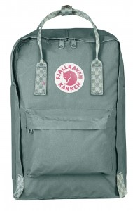 "Plecak Kanken Laptop 15"" Fjallraven - 664-904 - Frost Green-Chess Pattern"