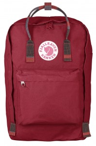 "Plecak Kanken Laptop 17"" Fjallraven - 325-915 - Deep Red-Random Blocked"