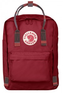 "Plecak Kanken Laptop 13"" Fjallraven - 325-915 - Deep Red-Random Blocked"